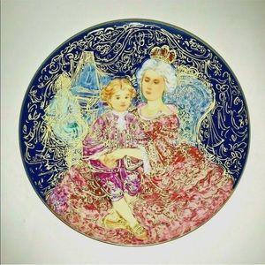 New Edna Hibel Plate #204 Mozart Empress Theresa